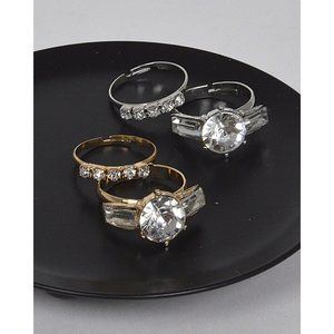 GioVanni Di Rocco Crystal Studded Rings